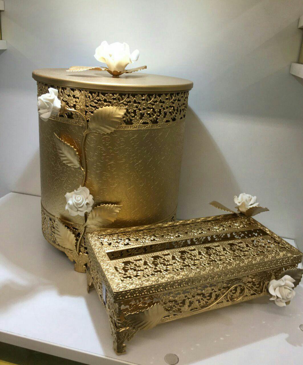 سطل و دستمال گل دار