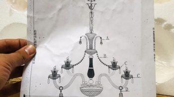 نقشه نصب لوستر باکارا
