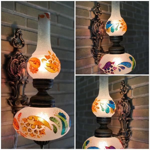چراغ دیوارکوب حباب دار