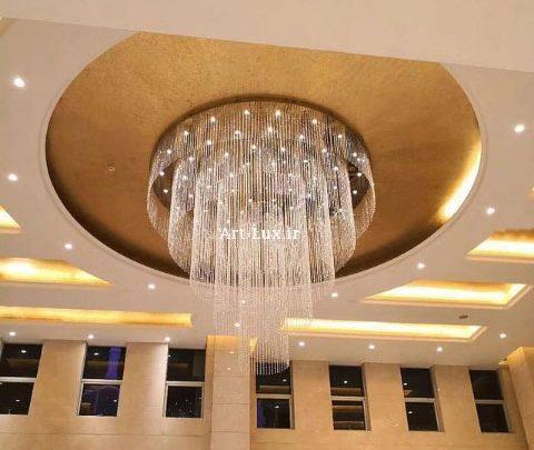 عکس لوستر بزرگ هتلی