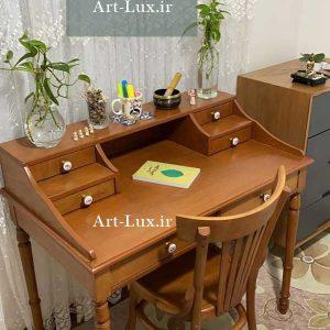میز تحریر چوب راش